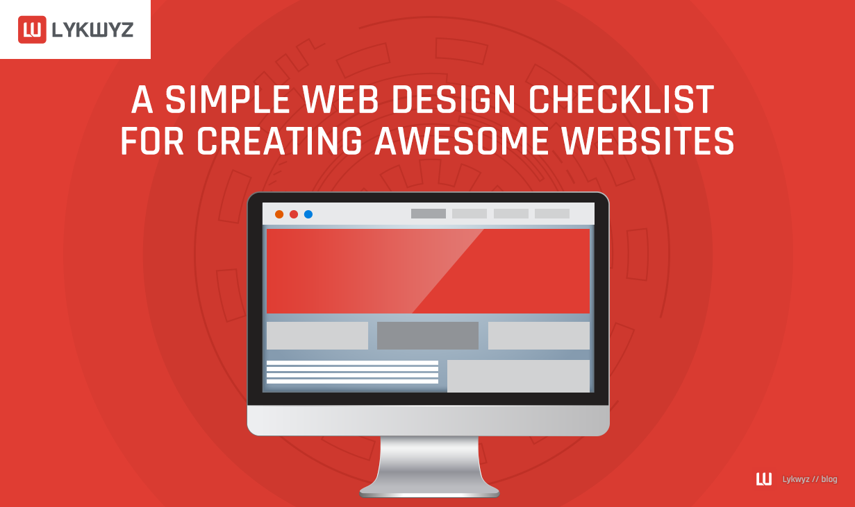 A Simple Web Design Checklist for Creating Awesome Websites